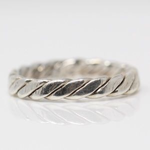 Jewelry - VINTAGE Sterling 4mm Braided Cable Stack Band Ring